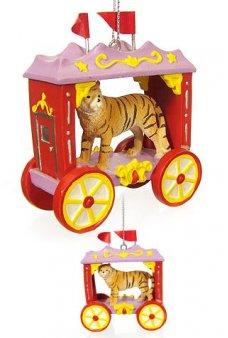 Tiger Cage Circus Train Ornament