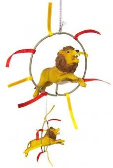 Lion Jumps Ring Circus Ornament