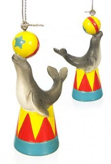 Circus Seal and Ball Ornament