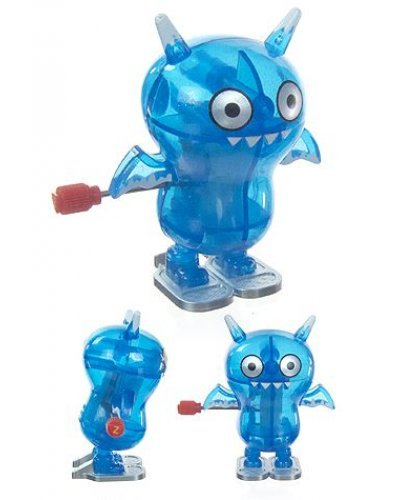 IceBat Blue Clear Wind Up Ugly Doll