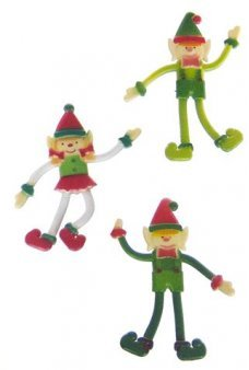 Christmas Elves Bendy Set of 3