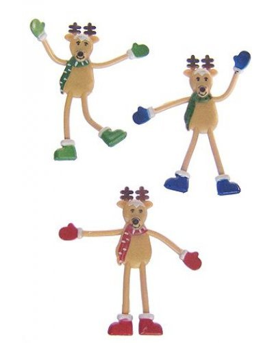 Santas Reindeer Bendy Set of 3