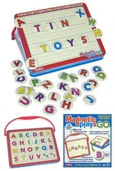 Magnetic Play and Go ABC Tin Set