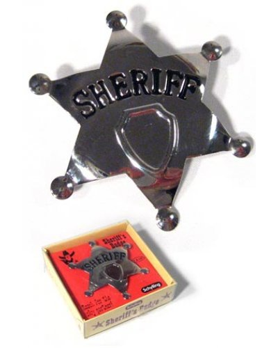 Cowboy Sheriff Badge Metal in Box