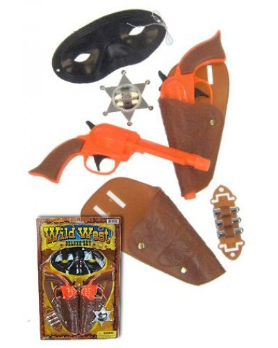 Pretend Plastic Cowboy Guns Wild West Deluxe Set - Does Not Use Real Caps