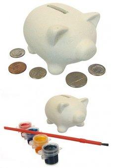 Piggy Bank Paint Set Ceramic
