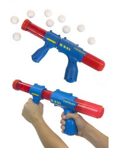 Ping Pong Pop Shot Shooter Blue Red Gun