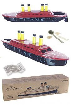 Titanic Tin Steamship Hand Painted