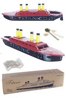 Titanic Tin Steamship Hand Painted