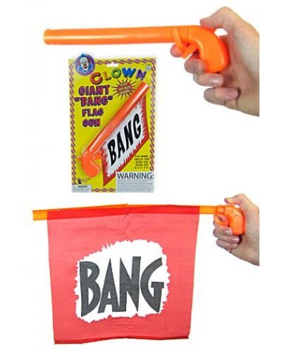 Giant Bang Flag Gun Clown Prank