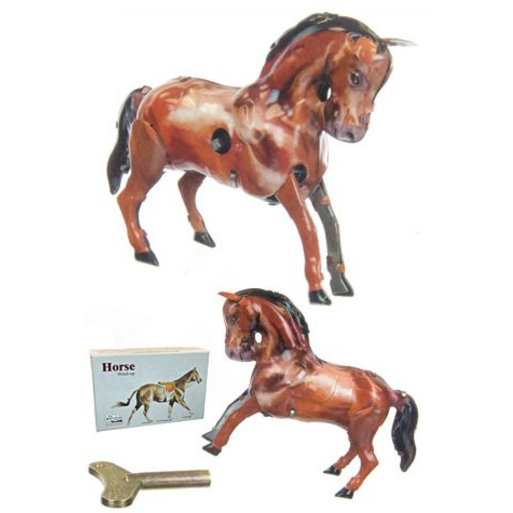 10 bucking bronco horse tin toy 1910