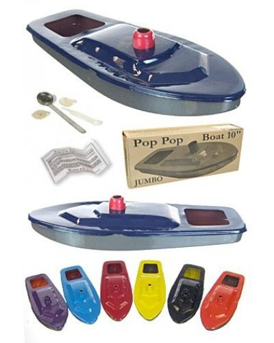 Jumbo Steam Ship Tin Pop Pop Boat Colors