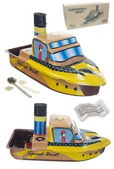 Speed Boat Tin Toy Pop Pop Steamer