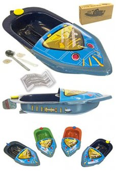 Robot Boat Mini POP POP Tin Toy