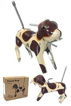 Spence the Spinning Crazy Dog Tin Toy