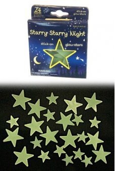 Starry Night 24 Glow Stars Ceiling Set