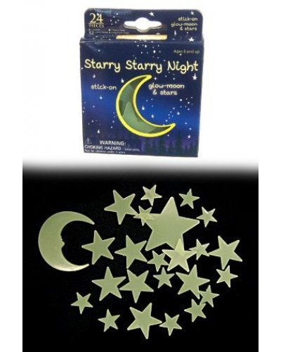 Starry Night 24 Glow Moons and Stars