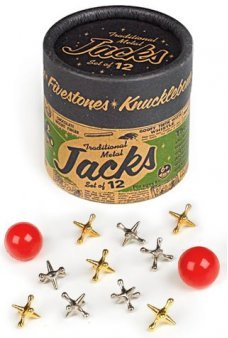 Traditional Metal Jacks UK Set of 12