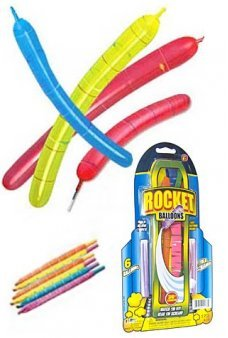 Screaming Rocket Balloons Set of 6