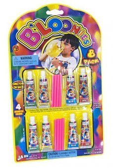 Bloonies Blow Plastic Bubbles 8 Pack