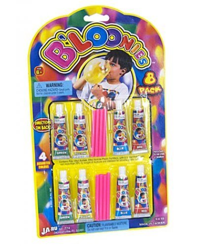 Bloonies Blow Plastic Bubbles 8 Pack