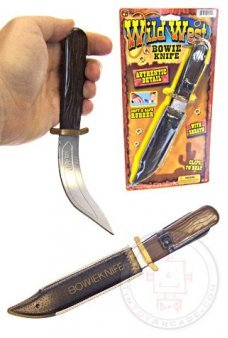 Trick Rubber Bowie Knife Wild West