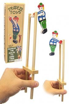 Trapeze Clown Wooden Toy Classic