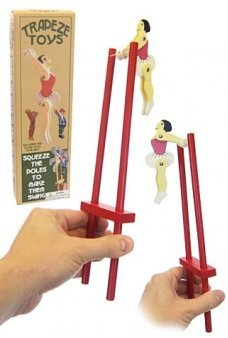 Trapeze Ballerina Dancer Wooden Toy