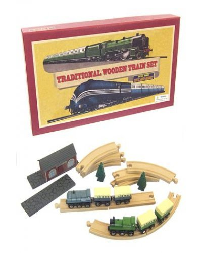 Traditional Wooden Train English Set