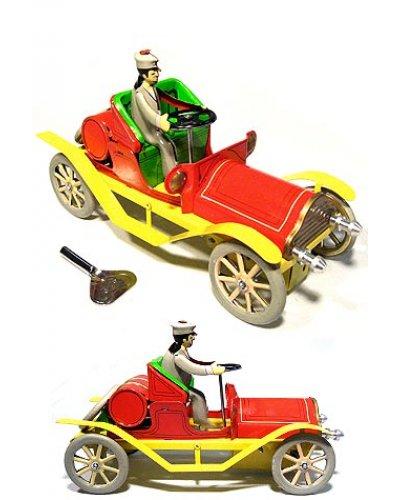 Red Antique Automobile