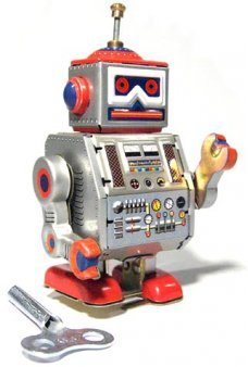 Robot Band Leader Tin Toy