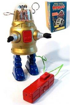 Robby Piston Action Robot Gold