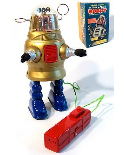 Robby Piston Action Robot Gold