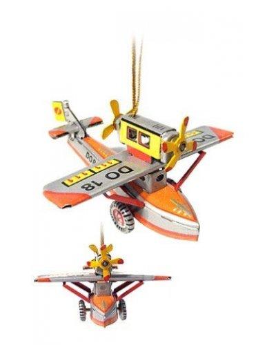 Twin Propeller Plane Ornament