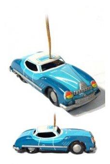 Blue Sedan Ornament
