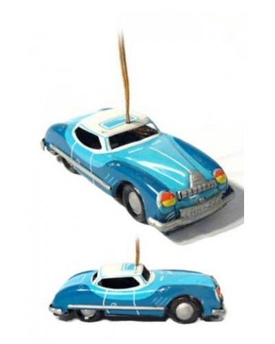Blue Sedan Ornament