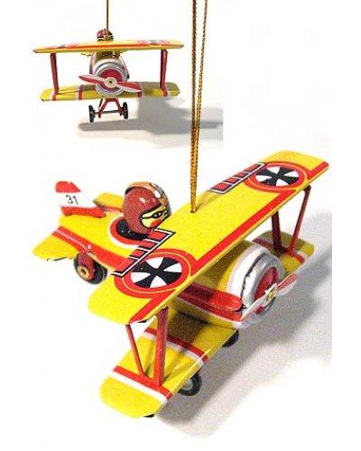 Fokker Biplane Ornament
