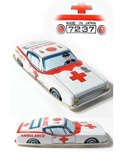Japanese Ambulance Car Vintage Toy