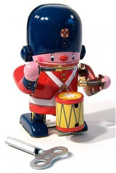 Little Soldier Drummer Tin Toy