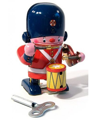 Little Soldier Drummer Tin Toy