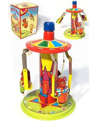 Bears Go Round Tin Toy Top