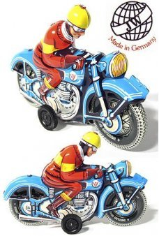 Motorcyclist Blue Made in Germany