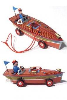 Dragonfly Speedboat Ornament Brown