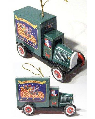 Santa's Truck Green Ornament