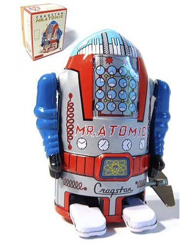 Mr Atomic Robot Silver Cragstan