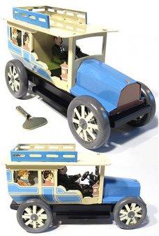 Tourist Taxi Tin Toy Automobile Blue