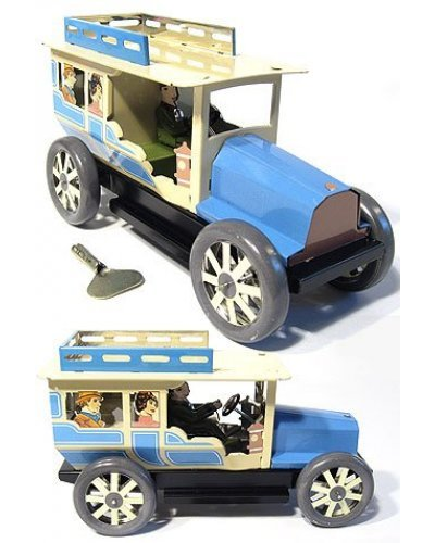 Tourist Taxi Tin Toy Automobile Blue