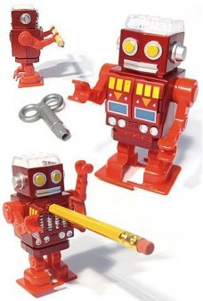 Red Robot Walking Pencil Sharpener - Sharpy