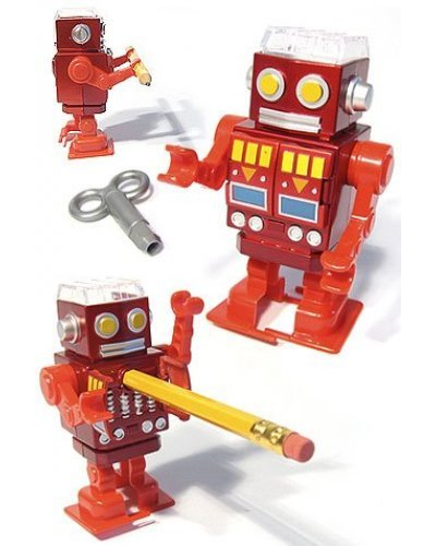 Red Robot Walking Pencil Sharpener - Sharpy