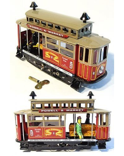 San Francisco Cable Car Wind Up Tin Toy
